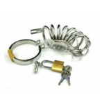 Steel Chastity Cage Lock Cage for Men BDSM07