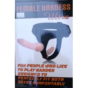 LELUV Ultra Female Harness Strap-on Dong and Anal Plug